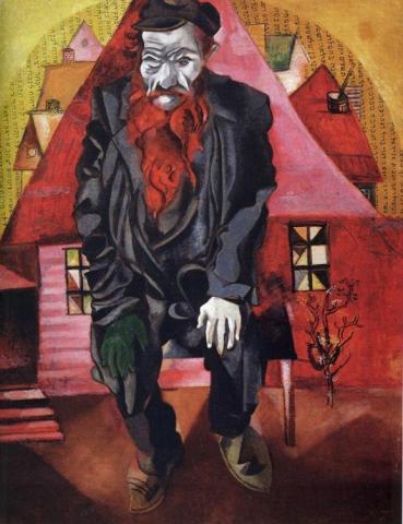 roter Jude (Chagall) - (Geschichte, Religion, Weihnachten)