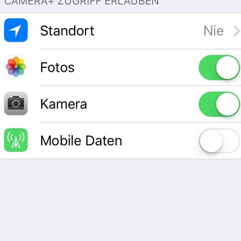Kamerazugriff  - (iPhone, Kamera)