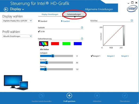 Intel HD-Grafik, Helligkeit-, Kontrast- und Farbeinstellungen - (Computer, PC, Sims)
