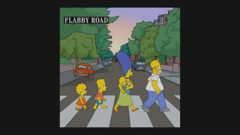 Flabby Road - (Simpsons, Beatles, Abbey Road)