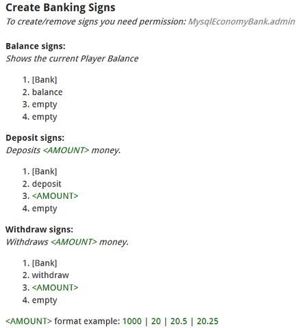 Economy Bank | Tested Minecraft Versions: 1.7 | 1.8 | 1.9 - (Minecraft, Server, Java)