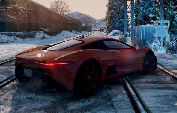 Der Jaguar von hinten - (Freizeit, Games, Auto)