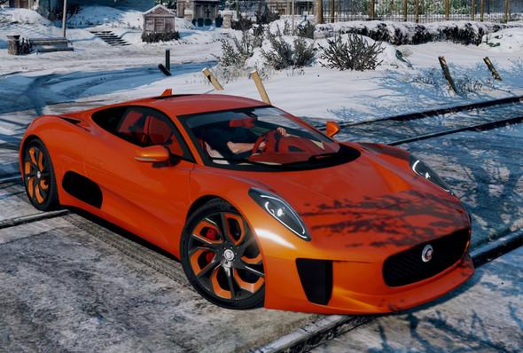 Der Jaguar von vorne - (Freizeit, Games, Auto)