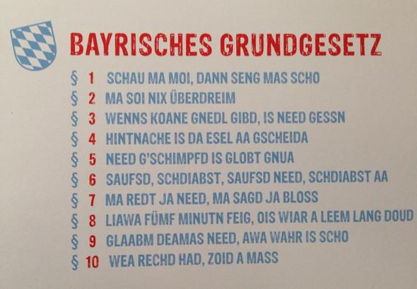 Bayrisches Grundgesetz - (Liebe, Sprüche)