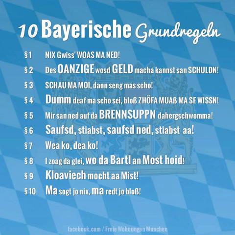 Bayerische Grundregeln - (Liebe, Sprüche)
