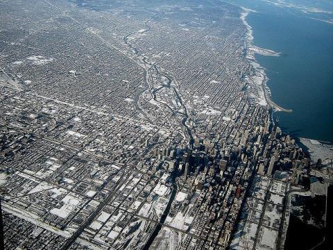 Chicago Luftbild - (USA)