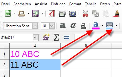 Calc LibreOffice Zelle einfärben - (Programm, Mathematik, Text)
