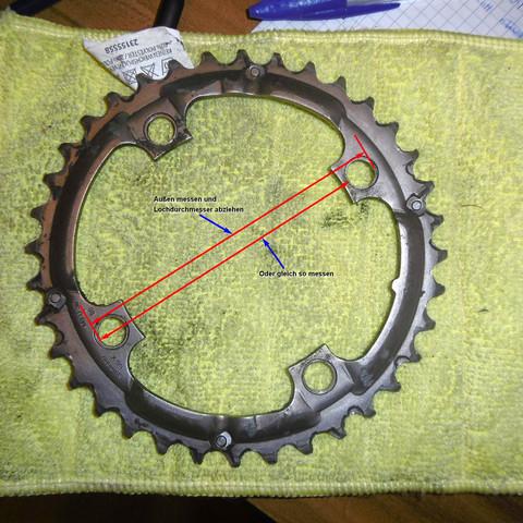 Lochkreis - (Fahrrad, Reparatur)