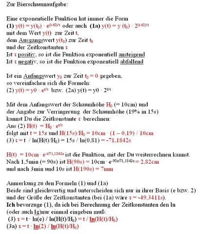 Bierschaum - (Mathe, Mathematik, textaufgabe)