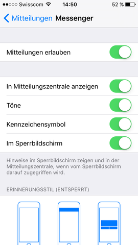 Screenshot Einstellungen - (Technik, iPhone, Apple)