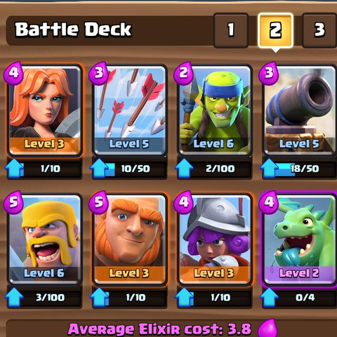 Mein momentanes Deck. - (Games, ios, Clash Royale)