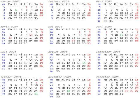 Kalenderwoche um Jahreswechsel herum? (Kalender, woche ...