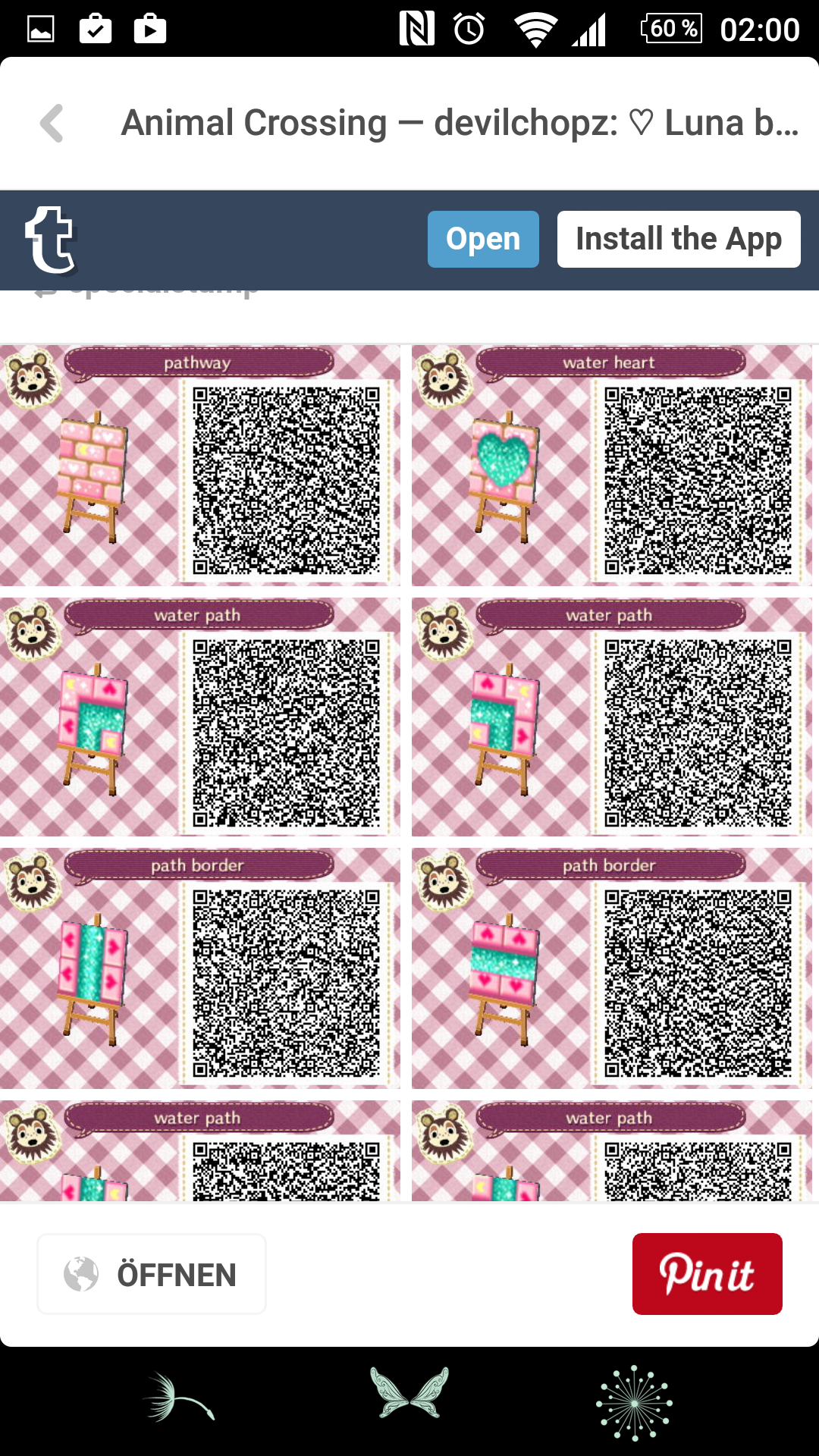 Animal crossing new leaf qr codes boden stein for Animal crossing boden qr