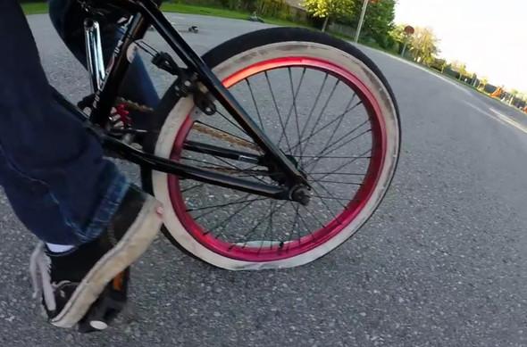 weicher Reifen, soft tyre - (Fahrrad, Reifen, Mountainbike)