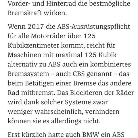 ABS Ausrüstungspflicht 2017 - (Motorrad, Unfall, Yamaha)