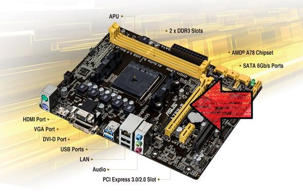 Asus A78M-E - (PC, Grafikkarte, Mainboard)