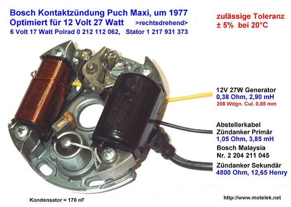 6 Volt Zündung  - (Motorrad, Zündung)
