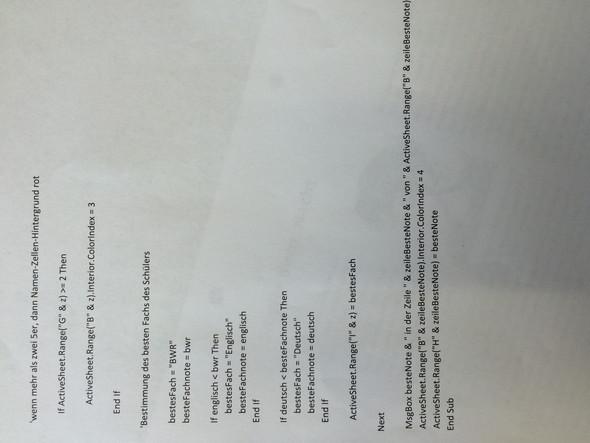 Der zweite Teil  - (Excel, Wio Klausur)