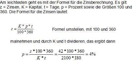 Formelumstellung - (Mathe, Zinsen)