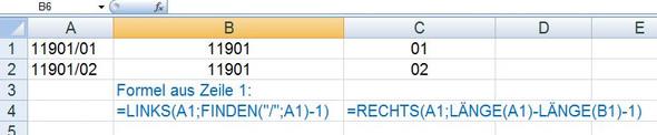 Stringteil - (Excel, Formel)