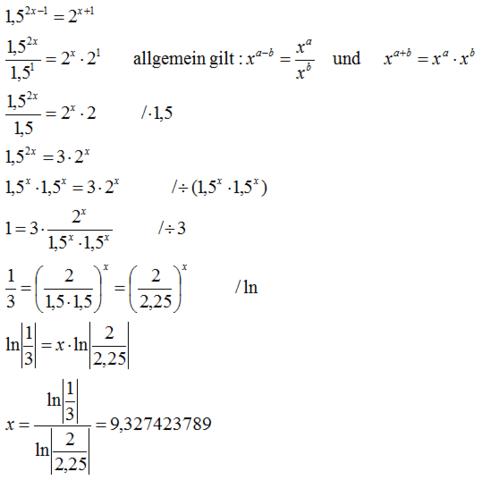 - (Mathe, Gleichungen, exponentialgleichung)