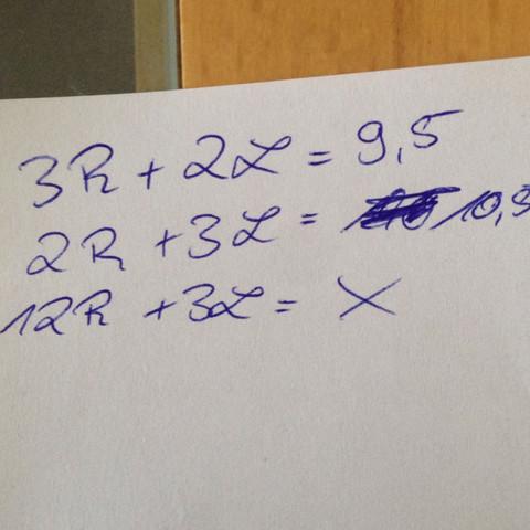 hier die 3 Gleichungen - (Mathe, Mathematik, textaufgabe)