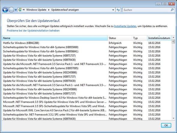 Updateverlauf - (Computer, PC, Technik)