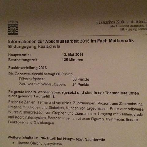 1ter Teil vom blatt - (Schule, Realschule, Hessen.)