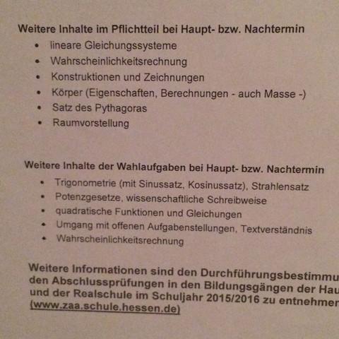2ter Teil vom Blatt  - (Schule, Realschule, Hessen.)