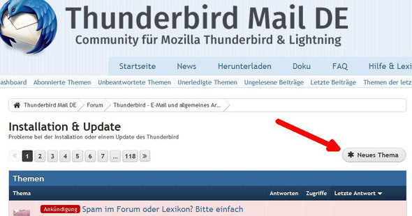 - (Email, Forum, Thunderbird)