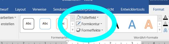 Formkontur - (Word, aendern, Datum)