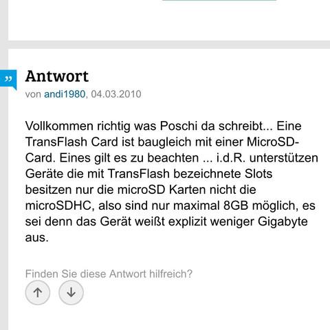 Tf card - (Musik, Technik, Elektronik)