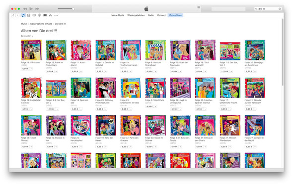 """iTunes Store, """"die drei !!!"""" - (iTunes, Die drei-)"""