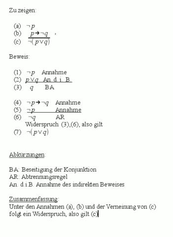 Logik - Beweis - (Mathematik, Logik, Syntaktischer Beweis)