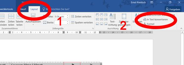 Tabelle umwandeln - (Word, tabelle löschen)
