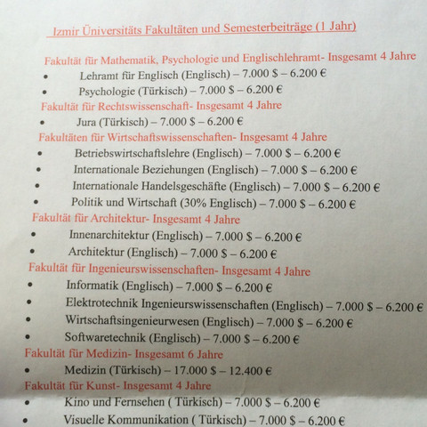 Unterlagen die wir von der Messe bekommen haben 2 - (Medizin, Studium, Deutschland)
