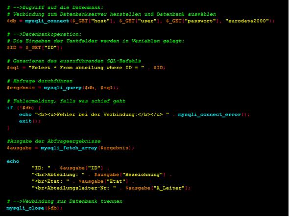 bsp - (Informatik, IT, Datenbank)