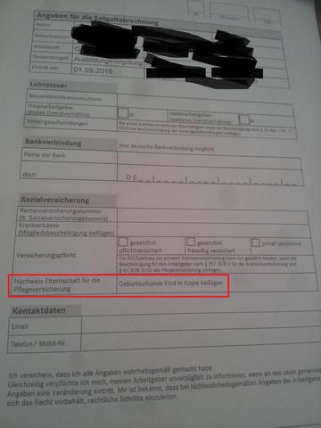 Geburtsurkunde - (Schule, Arbeit, Ausbildung)