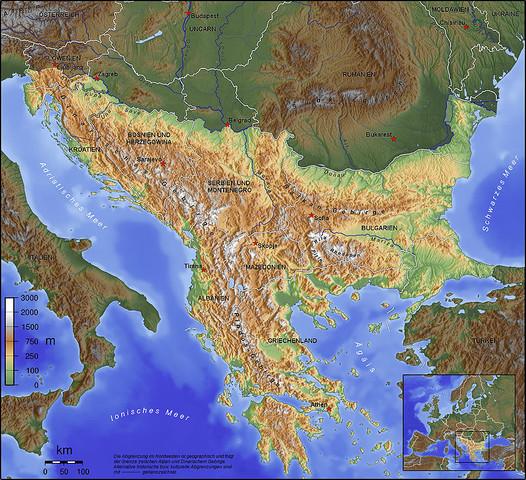 Die Balkanhalbinsel. - (Erdkunde, Geographie, Erde)