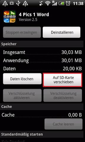 Android Speicher Auf Sd Karte Umstellen.Handy Appsspeicherort Andern Speicher Speicherkarte