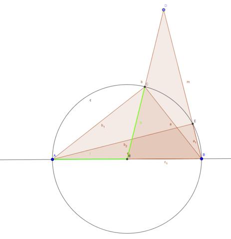 Die Skizze zur Herleitung. - (Mathe, Geometrie)