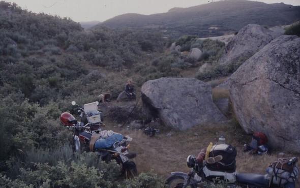 Irgendwo in Nordspanien oder Portugal, 1988 - (Auto, Urlaub)