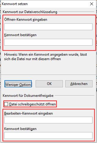 OpenOffice - (OpenOffice, Schreibschutz)