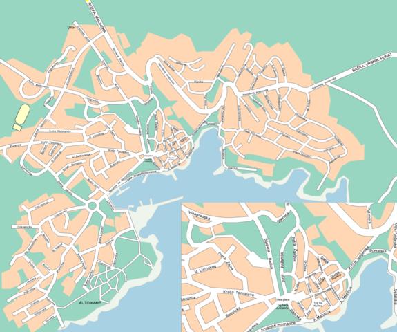 - (Stadtplan, krk, Stadt Krk)