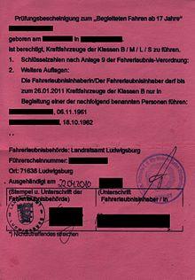 BF17 Erlaubnis  - (Auto, Führerschein)