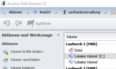 Screenshot des Programms mit dem Menüpunkt, den Du brauchst. - (Computer, PC, Festplatte)