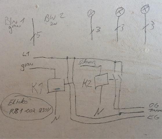 2 bewegungsmelder 3 lampen welche kabel m ssen verlegt werden elektronik elektrik. Black Bedroom Furniture Sets. Home Design Ideas