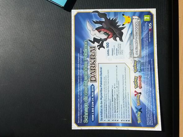 So sehen die Zettel übrigens aus ;) - (Pokemon, Nintendo, Gamestop)