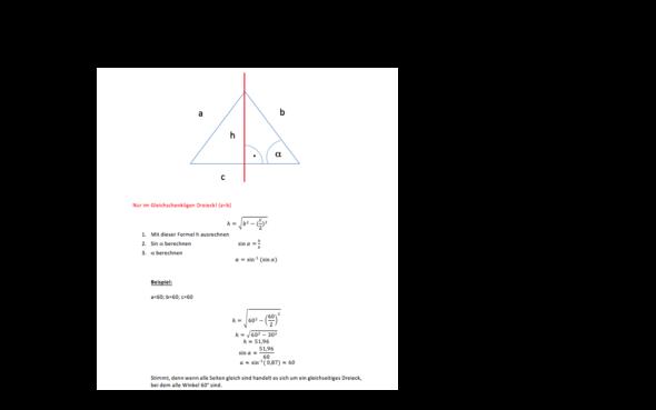 Hier die Rechnung - (Mathe, Geometrie)