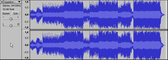Beispiel einer Tohnspur - (Computer, Internet, Musik)
